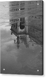 Trieste Reflection In Mono Acrylic Print by Graham Hawcroft pixsellpix