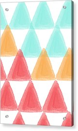 Trifold- Colorful Abstract Pattern Painting Acrylic Print