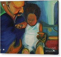 Acrylic Print featuring the painting Trina Baby by Daun Soden-Greene