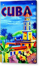 Trinidad Cuba Acrylic Print by Victor Minca