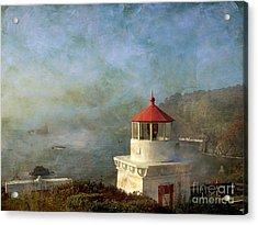 Trinidad Light House Acrylic Print by Irina Hays