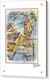 Trinity Episcopal Church In The Snow - Shepherdstown  Acrylic Print