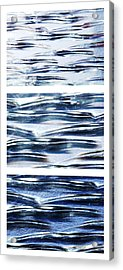 Acrylic Print featuring the photograph Trio In Blue by Wendy Wilton
