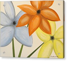 Trio Of Flowers Acrylic Print by Tim Townsend
