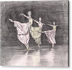 Trio Of Grace Acrylic Print by Beverly Marshall