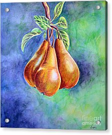 Trio Of Pears Acrylic Print by Dion Dior