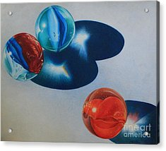 Acrylic Print featuring the painting Trio by Pamela Clements