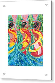 Acrylic Print featuring the painting Trio by Suzanne Silvir