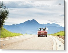 Trip In A Cabriolet Acrylic Print by Angiephotos