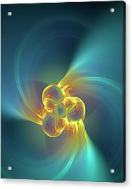 Triple Alpha Nuclear Fusion Acrylic Print by David Parker