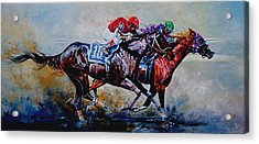 The Preakness Stakes Acrylic Print by Hanne Lore Koehler