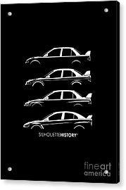 Triple Diamonds Silhouettehistory Acrylic Print by Gabor Vida