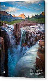 Triple Falls Cascades Acrylic Print by Inge Johnsson