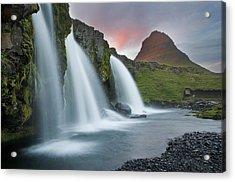 Triple Falls Acrylic Print by Karsten Wrobel