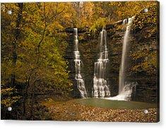 Triple Falls Acrylic Print by Ryan Heffron