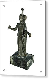 Triple Form Of Hecate Around A Column Acrylic Print
