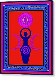 Acrylic Print featuring the digital art Triple Goddess by Vagabond Folk Art - Virginia Vivier