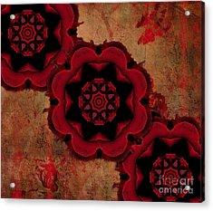 Triple Red Rose #1 Acrylic Print by Renata Ratajczyk