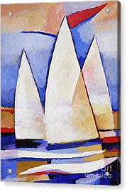 Triple Sails Acrylic Print by Lutz Baar