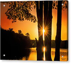 Triple Sunburst Morning Acrylic Print