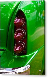Triple Vertical Tail Lights Acrylic Print by Mick Flynn