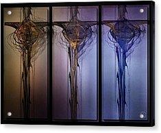 Triptych 1 Acrylic Print by Gun Legler
