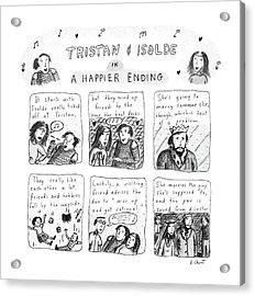 Tristan & Isolde In A Happier Ending Acrylic Print
