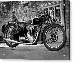 Triumph De Luxe 1939 Acrylic Print by Mark Rogan