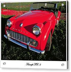 Triumph Tr-3 Acrylic Print