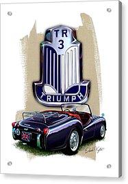 Triumph Tr-3 Sportscar Acrylic Print