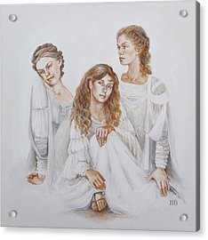 Acrylic Print featuring the painting Trois by Marina Gnetetsky