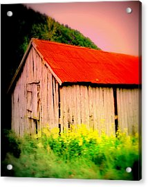 The Walls May Fall Down But Nothing Wrong Will Ever Happen Under My New Red Roof  Acrylic Print