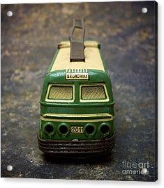 Trolley Bus Toy Acrylic Print by Bernard Jaubert