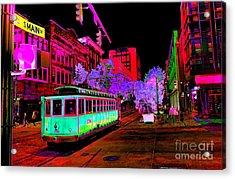 Trolley Night Acrylic Print