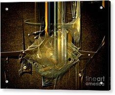 Acrylic Print featuring the digital art Trombone Machine by Alexa Szlavics