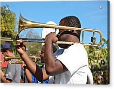 Trombone Man Acrylic Print by Steve Harrington
