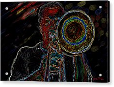 Trombone Player Acrylic Print