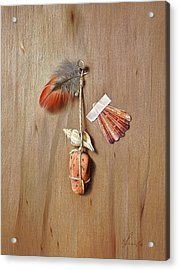 Trompe L'oeil - Gifts Of The Red Land Acrylic Print by Elena Kolotusha