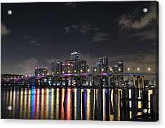 Acrylic Print featuring the photograph Trooper Bridge Miami by Gary Dean Mercer Clark
