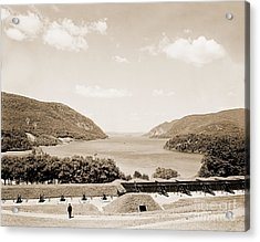 Trophy Point North Fro West Point In Sepia Tone Acrylic Print