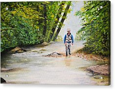 Acrylic Print featuring the painting Trophy Stream by Debbie Baker