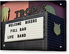 Tropic Theatre Acrylic Print by Laurie Perry