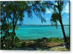 Tropical Aqua Blue Waters  Acrylic Print