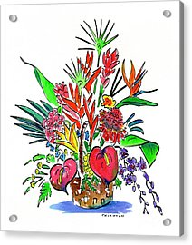 Tropical Basket Acrylic Print