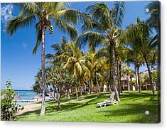 Tropical Beach I. Mauritius Acrylic Print by Jenny Rainbow