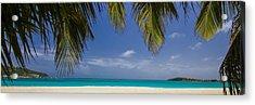 Tropical Beach Scene In 3 To1 Aspect Ratio Acrylic Print