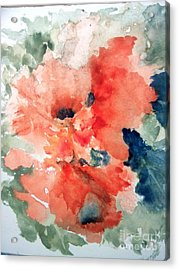Tropical Bliss Acrylic Print by Trilby Cole