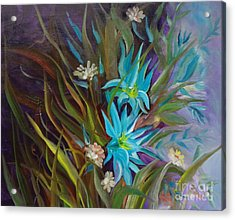 Tropical Blue Acrylic Print by Jenny Lee