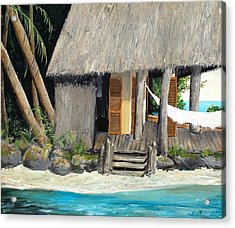 Acrylic Print featuring the painting Tropical Breeze by Alan Lakin