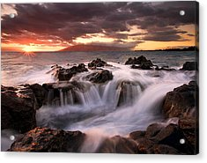 Tropical Cauldron Acrylic Print by Mike  Dawson